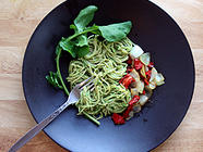 Creamy Arugula Pesto - Vegetarian Recipe  found on PunkDomestics.com